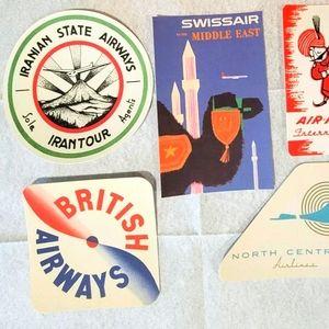 Louis Vuitton Airline Labels Postcards Stickers(5)
